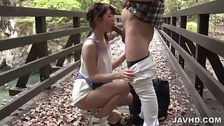 Outdoor passionate sex