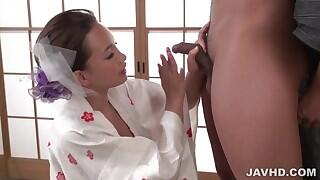 Ray loves stroking the cock before a nice blowjob