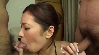 Nasty group sex pleasures along sexy Yui Kasuga